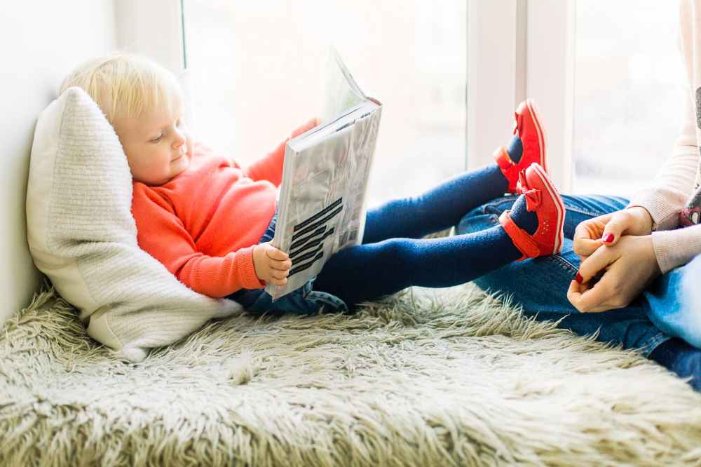 toddler reading book
